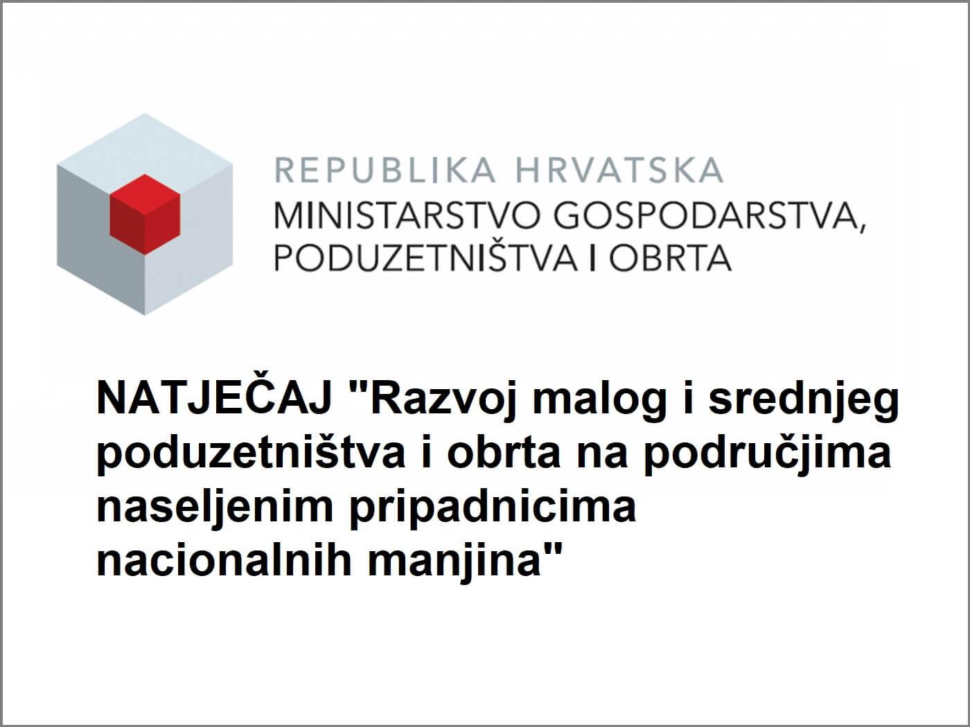 Ministarstvo Gospodarstva Poduzetništva i Obrta - Natječaji